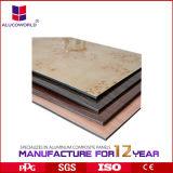 Panneau composé en aluminium de divers enduit 4mm de marbre de PVDF pour le mur Clading