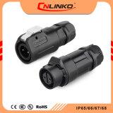 Cnlinko 2pin Verbinder-Kabel-Preis der elektrischer Verbinder-Panel-eingehangener wetterfester Steckhülsen-LED angemessen