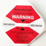 El uso de adhesivos personalizados y rasque etiqueta característica