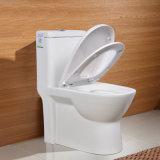 Heiße verkaufende einteilige bündige Verlangsamung-Deckel Siphonic Toiletten-Arbeitskarte-Verdoppelungwanne