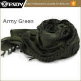 Noeud tactique d'enveloppe attachant le masque/écharpe verts de Headwear Shemagh Airsoft