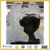 Grafsteen van de Grafsteen van het Monument van de Engel van de Hand van het Graniet van India van de douane de Zwarte Snijdende
