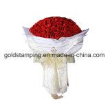 花の包装紙のための熱い押すホイル