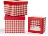 Картонной упаковки для печати на Рождество, подарочная упаковка бумаги с помощью окна