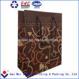 Sacchi di carta personalizzati del Brown Kraft per caffè con la maniglia dei pp
