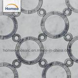 Círculo gris decorativos baratos mosaico de mármol diseños para la pared y el suelo