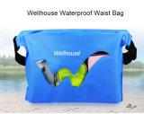 La taille imperméable à l'eau de natation met en sac le sac sec pour le sac extérieur orange bleu de couleurs vertes de mémoire de vêtement d'argent de téléphone pour le sport aquatique