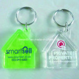 Promotion Gift를 위한 주문 Oval Shape Hollow Plastic Key Chain