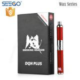 Énorme Seego vapeur Smoking Dragon Vape cire Kit avec CDQ de plumes