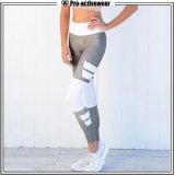 Fábrica OEM Plus Size Perneiras Desgaste de ioga Fitness Calças de ioga de algodão branco