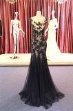 Выполненные на заказ черные повелительницы Mermaid шнурка мантия вечера партии платья