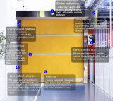 Прозрачная визуально автоматическая высокоскоростная дверь штарки ролика