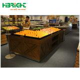 Supermercado Madeira Prateleira de exibição de produtos hortícolas Frutas Rack de exibição