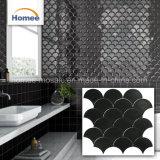 Mattonelle di mosaico a forma di ventaglio del marmo del getto di acqua delle mattonelle poco costose cinesi