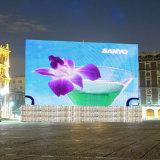 屋外P10すくいのフルカラーの広場LEDのウォール・ディスプレイスクリーン