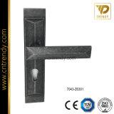 Mobiliário de liga de zinco um graminho bloquear puxador de porta placa (7039-Z6289)