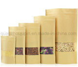 OEM Kraftpapier de Verpakkende Zak van de Ritssluiting van het Voedsel van Doypack van het Document