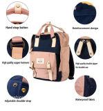 A cor-de-rosa nova Macaron de nylon do projeto 2018 colore o saco impermeável da trouxa do portátil