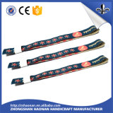 Custom Textile Fabric Festival Wristband Polyester