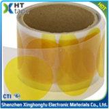 Cinta adhesiva da alta temperatura adhesiva de Sillicone que corta con tintas Polyimide