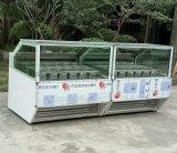 Armadietto di esposizione di vetro del gelato duro delle 12 vaschette