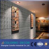 Painéis de parede 3D decorativos da parede de madeira natural