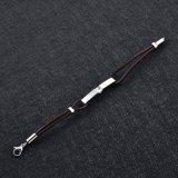 Bracelet humain de support de cendre d'animal familier de bracelet d'incinération de cuir véritable