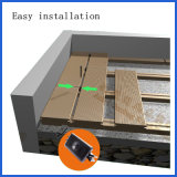 Decking en plastique en bois composé réutilisé, Decking extérieur imperméable à l'eau de WPC