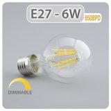 Lampe à économie d'énergie Ampoule à filament E27 4W 6W Lampe LED 8 W à intensité réglable