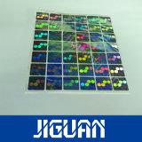Горячая штамповка цветных голограмм наклейки