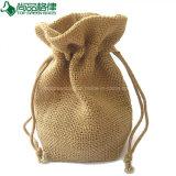 カスタム自然な昇進の自然なバーラップの袋のドローストリングのジュート袋