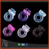 Het dierlijke Volwassen Stuk speelgoed van de Producten van het Geslacht van het Speelgoed van het Geslacht van de Ringen van de Penis van de Ring van de Haan van het Silicium van de Ring Trillende