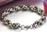 Elo da Corrente de Punk Braceletes Ouro e Prata pulseiras de Aço Inoxidável Cor & Bangles para homens dons de jóias