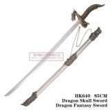 Decorazione della casa della decorazione di Swordtable di fantasia del drago della spada del cranio del drago