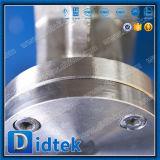 Válvula de mariposa excéntrica del estilo de la oblea de la torque de Didtek del triple inferior de la operación