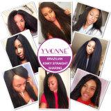 Diritto crespo dei capelli del commercio all'ingrosso dei capelli di Yvonne del Virgin dei capelli di estensione brasiliana dei capelli umani