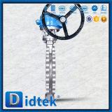 Type excentrique triple vanne papillon de cosse de l'essai Dn350 de Didtek 100%