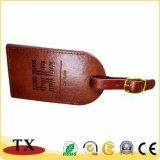 Nouveau style de l'étiquette de bagages en cuir blanc