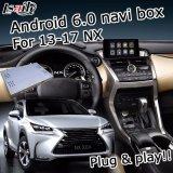 Cadre de système de navigation de l'androïde 6.0 GPS pour le cadre visuel de surface adjacente de Lexus Nx200t Nx300h 2014-2017 etc.