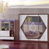 Het antieke Meubilair van de Slaapkamer met Klassieke Bed en Garderobe (6617)