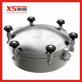 S304 en acier inoxydable vers l'extérieur de la pression ronde Manway sanitaires plaque d'égout