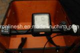 250W/500W 8fun Motor Media 7sp Nexus Elektrische Bakfietsen/carga E Bicicleta triciclo de carga/familia/3 rueda de bicicleta de Carga/Carga Bakfietsen Pedelec/Caja de madera marrón
