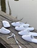 Deslizadores personalizados do hotel de veludo de algodão da qualidade superior com logotipo