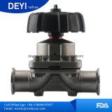 U-Tipo sanitario válvula de diafragma soldada te (DY-V104) del acero inoxidable
