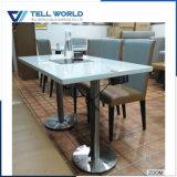 Mobília lustrosa elevada da sala de visitas da tabela de jantar