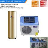 Dhw domestico 60deg c salva il potere 5kw, 7kw, alta Cop5.32 R410A Tankless pompa termica di 80% verticale di 9kw con il collettore termico a energia solare