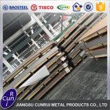 Strato spazzolato linea sottile decorativa dell'acciaio inossidabile 4X8 del commestibile AISI 304 con il PVC blu
