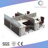 Proyecto cuatro asientos en forma de L Estación de trabajo de oficina (CAS-W31433)