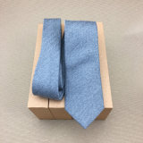 Cravate grise de laines tissée par soie fabriquée à la main de 100%