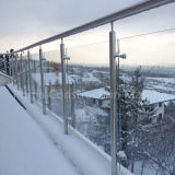 Moderner Entwurfs-Edelstahl-Treppen-Handlauf-ausgeglichenes Glas-Innengeländer